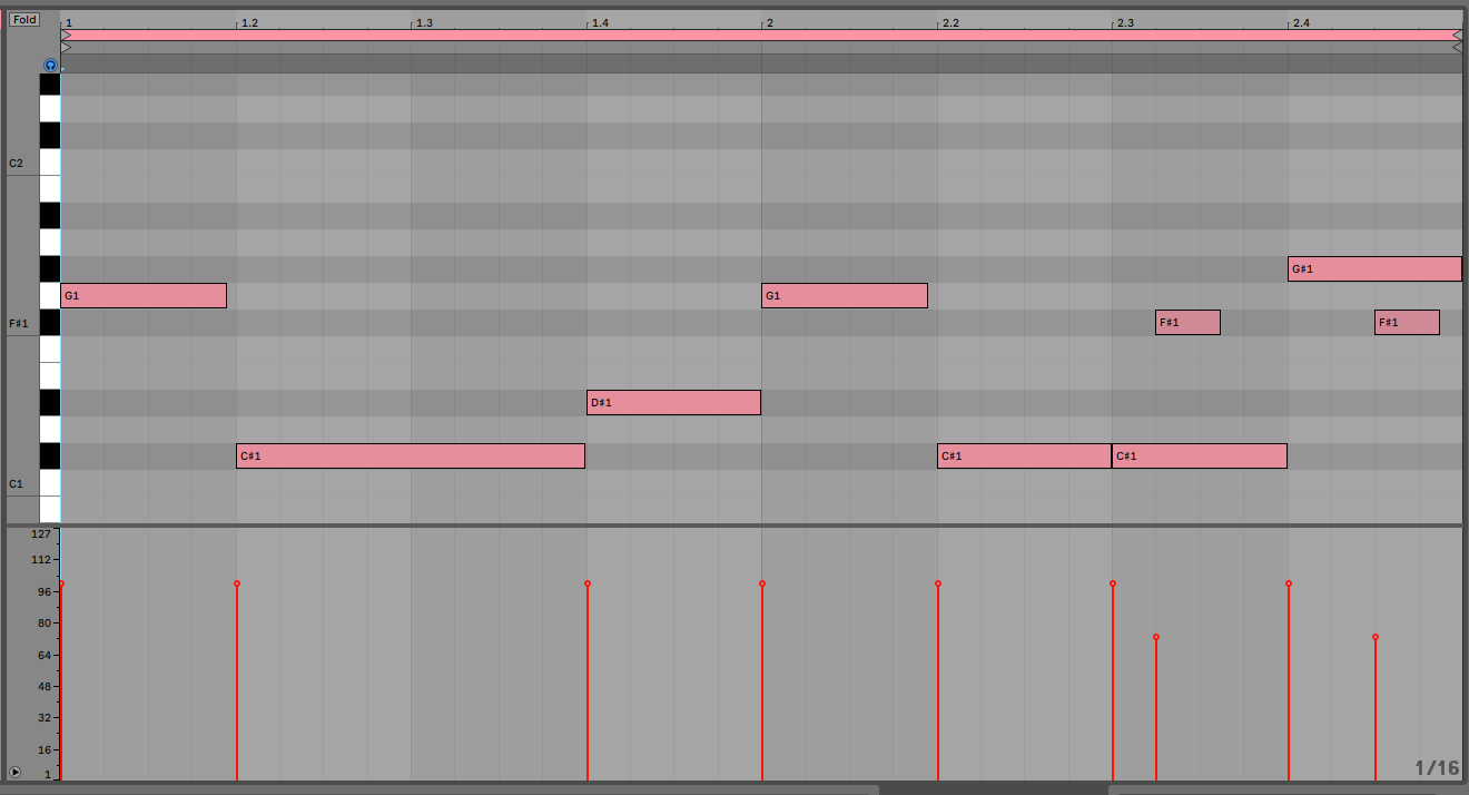 Rearranged with reduced velocity on the drum fills and played back at 130bpm
